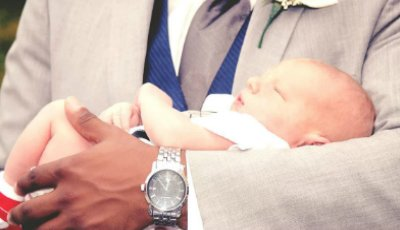 Photo of Baby Being Baptised