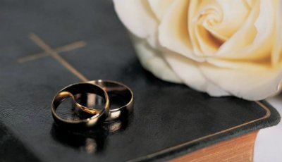 Photo of two wedding rings